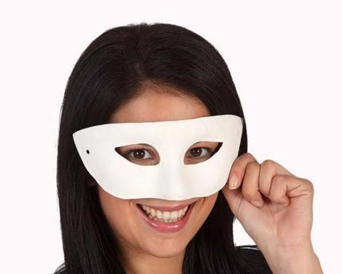 White Domino Eye Mask