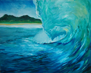 """Where I Want To Be"" - Ocean Wave, Giclee Reproduction"