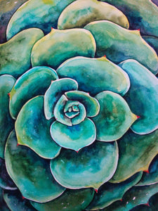 """Lush Green Succulent"" - Giclee Reproduction"