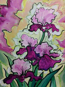 """Swaying In The Sunlight Irises"" - Giclee Reproduction"