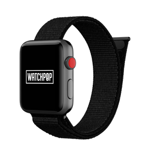 Jet Black Black/Black Watch Pop Loop for Apple Watch 1, 2 & 3