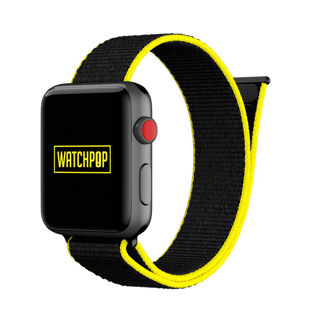 Bumblebee Black/Yellow Watch Pop Loop for Apple Watch 1, 2 & 3