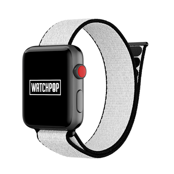 Icebear White/Black Watch Pop Loop for Apple Watch 1, 2 & 3