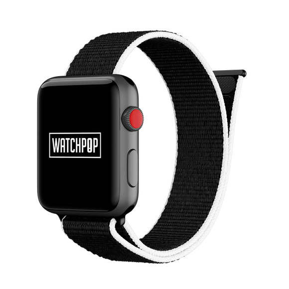 Orca Black/White Watch Pop Loop for Apple Watch 1, 2 & 3