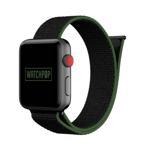 Turtle Black/Green Watch Pop Loop for Apple Watch 1, 2 & 3
