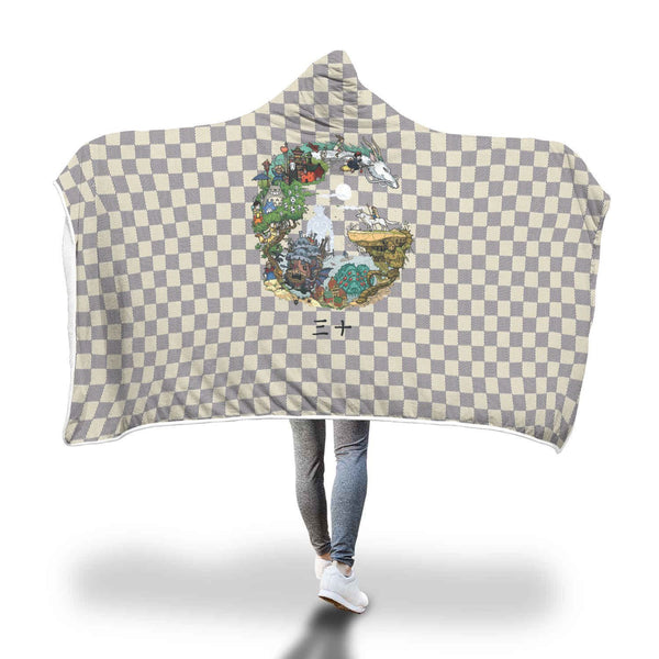 Ghibli Hooded Blanket