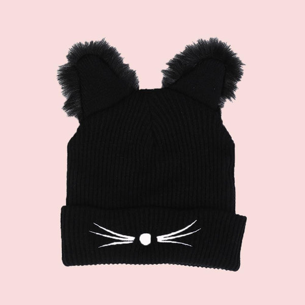 Kawaii Knit Cat Beanie