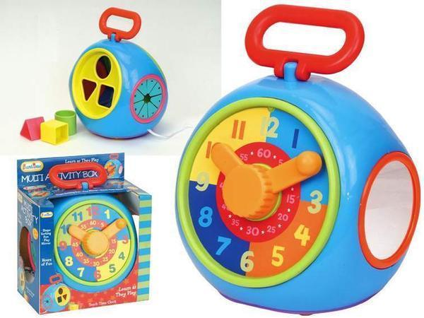 MULTI ACTIVITY BOX: CLOCK & SHAPE SORTER
