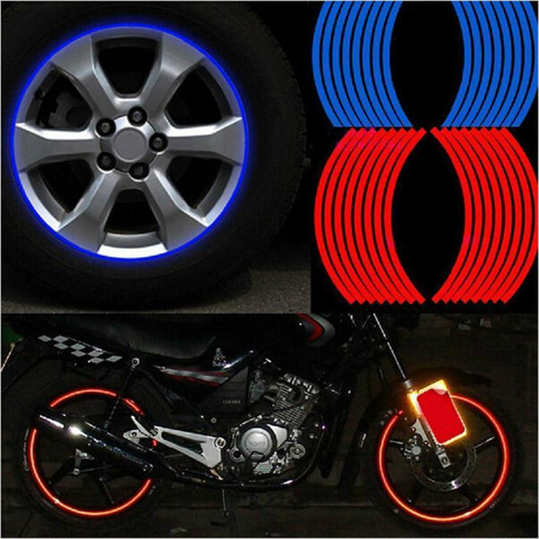 "16 Pcs Strips Wheel Stickers And Decals 14"" 17"" 18"""