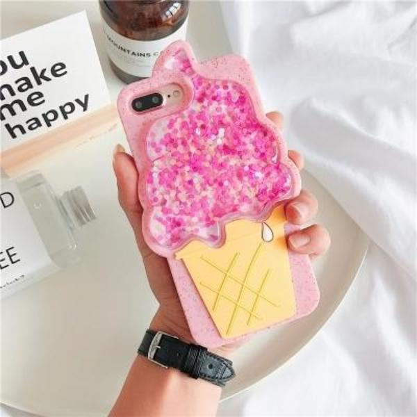 3D IceCream Glitz Case