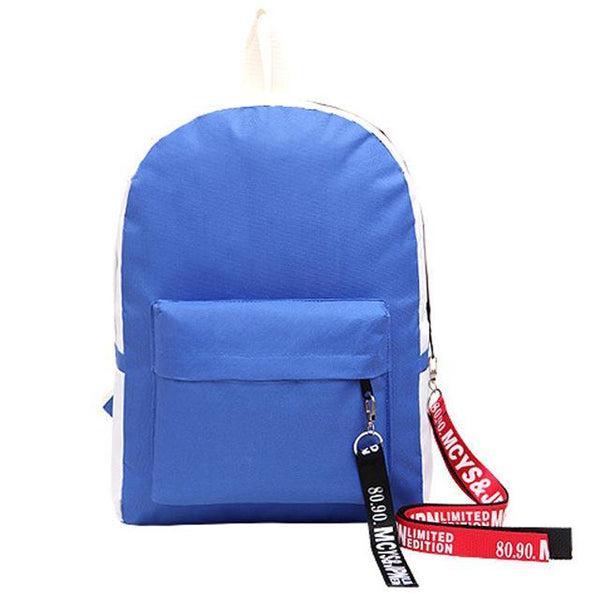 Contrast Color Large Capacity Student Schoolbag Laptop Travel Bag
