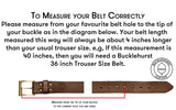 "(No3) 46"" Trouser size 1 1/2"" wide Black Oak Bark Tanned Leather Belt"