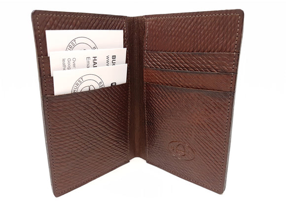 Leather Vertical Wallet Cuir De Russie (Russian Hatch Leather)