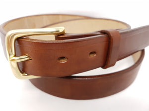 "(No100)  36"" Trouser Size 1 1/4"" wide Dark Stain Oak Bark Tanned Bridle Leather Belt"