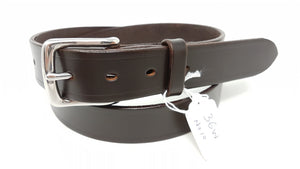 "(No10)  36"" Trouser Size 1 1/4  inch wide Sedgwick Dark Havana Bridle Leather Belt"