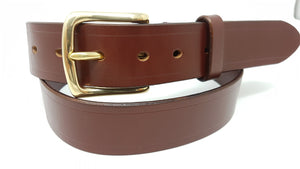 "(No82)  40"" Trouser size 1 1/2"" wide Australian Nut Bridle Leather Belt"