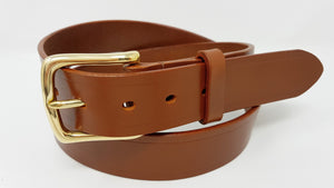 "(No130)  30"" Trouser Size 1 1/2  inch wide Sedgwick Conker Bridle Leather Belt"