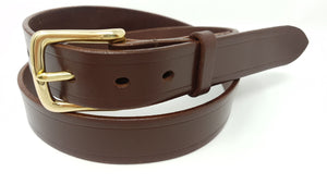 "(No155)  48"" Trouser Size 1 1/4  inch wide Sedgwick Australian Nut Bridle Leather Belt."