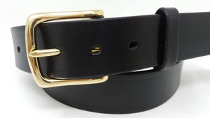 "(No164)  MARKED 38"" Trouser Size 1 1/2  inch wide Sedgwick Black Bridle Leather Belt"