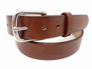 "(No79) 38"" Trouser size 1 1/2"" wide Dark Stain Oak Bark Tanned Bridle Leather Belt"