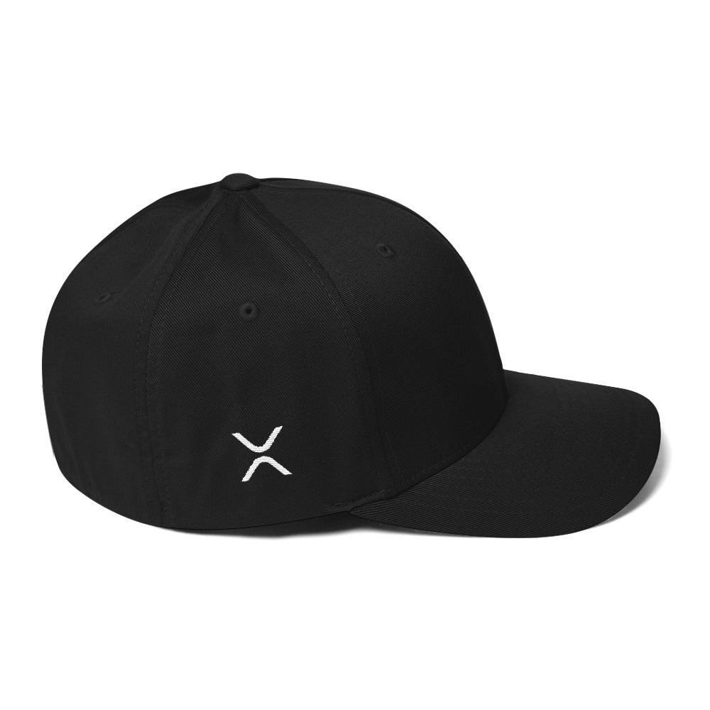 XRP FlexFit Structured Twill Cap | Cryptotshirt.com