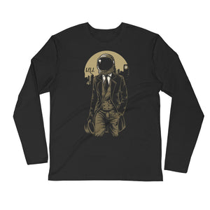 Bitcoin BTFD Spaceman Crypto Long-Sleeve T-Shirt | Cryptotshirt.com