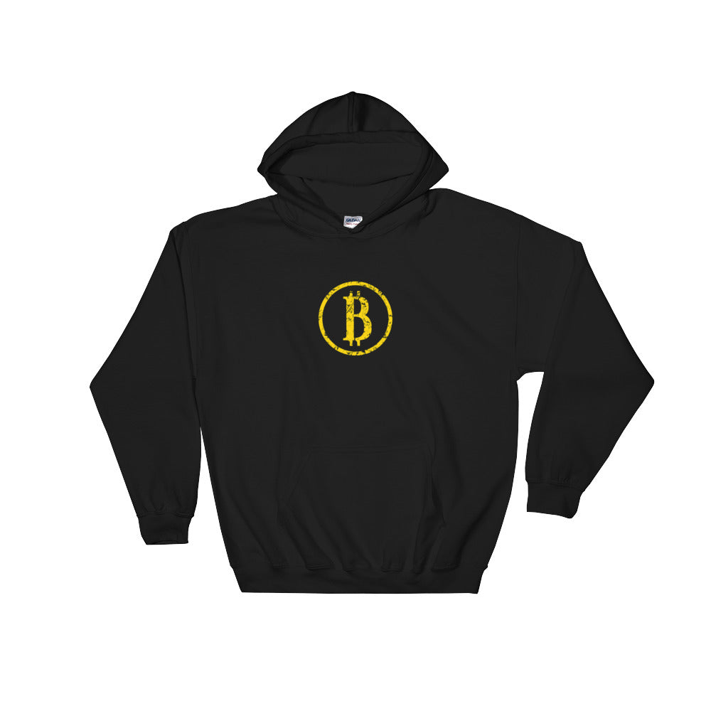 Bitcoin Vintage Hooded Sweatshirt | Cryptotshirt.com