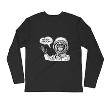 Load image into Gallery viewer, Bitcoin Moon Hodl Crypo Monkey Spaceman Long-Sleeve T-Shirt | Cryptotshirt.com
