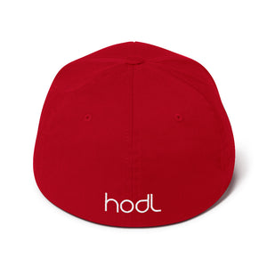 The Bitcoin FlexFit Red Cap | Cryptotshirt.com