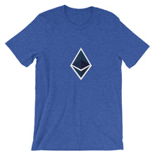 Load image into Gallery viewer, Ethereum Trim Short-Sleeve T-Shirt | Cryptotshirt.com