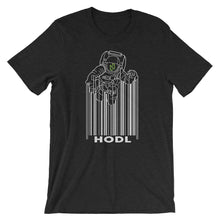 Load image into Gallery viewer, Nuls Hodl Spaceman Moon Short-Sleeve T-Shirt | Cryptotshirt.com