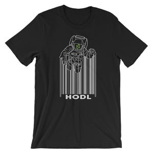 Nuls Hodl Spaceman Moon Short-Sleeve T-Shirt | Cryptotshirt.com