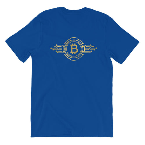 Bitcoin Elite Gold Short-Sleeve T-Shirt | Cryptotshirt.com