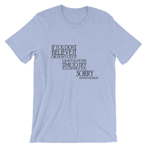 If You Don't Short-Sleeve T-Shirt | Cryptotshirt.com