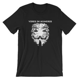 Vires in Numeris Mask Short-Sleeve T-Shirt | Cryptotshirt.com