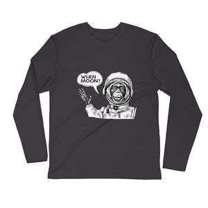 Bitcoin Moon Hodl Crypo Monkey Spaceman Long-Sleeve T-Shirt | Cryptotshirt.com