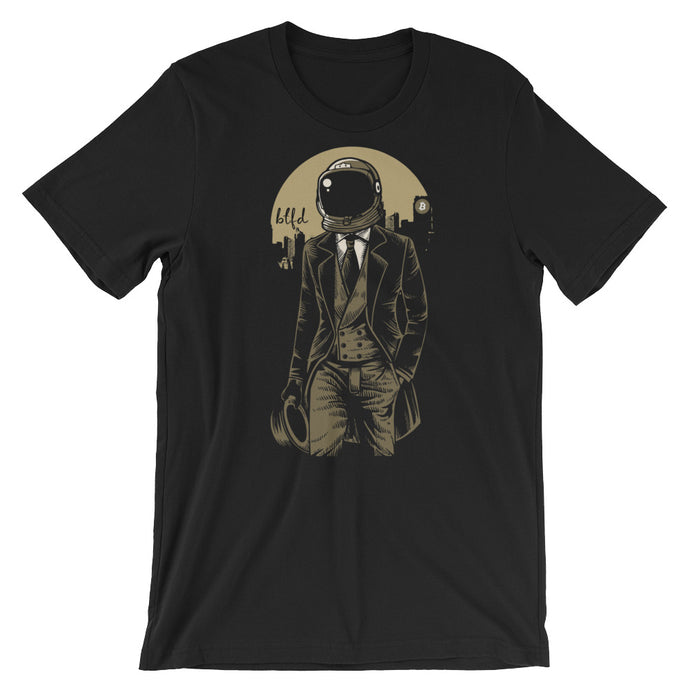 Bitcoin Spaceman Short-Sleeve T-Shirt | Cryptotshirt.com