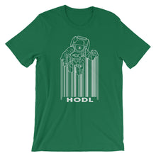 Load image into Gallery viewer, Bitcoin HODL Spaceman Short-Sleeve T-Shirt | Cryptotshirt.com