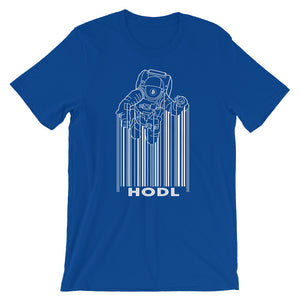 Bitcoin HODL Spaceman Short-Sleeve T-Shirt | Cryptotshirt.com