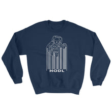 Load image into Gallery viewer, Bitcoin Hodl Spaceman Crypto Sweatshirt | Cryptotshirt.com