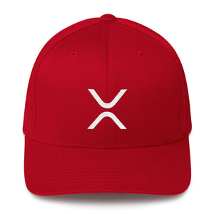 XRP Front Flex Fit Structured Twill Cap | Cryptotshirt.com