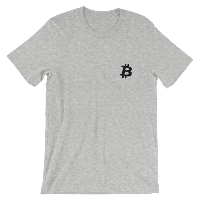 Bitcoin Logo Short-Sleeve T-Shirt | Cryptotshirt.com
