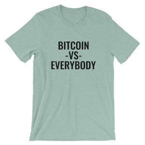 Bitcoin Vs Everybody Short-Sleeve T-Shirt | Cryptotshirt.com