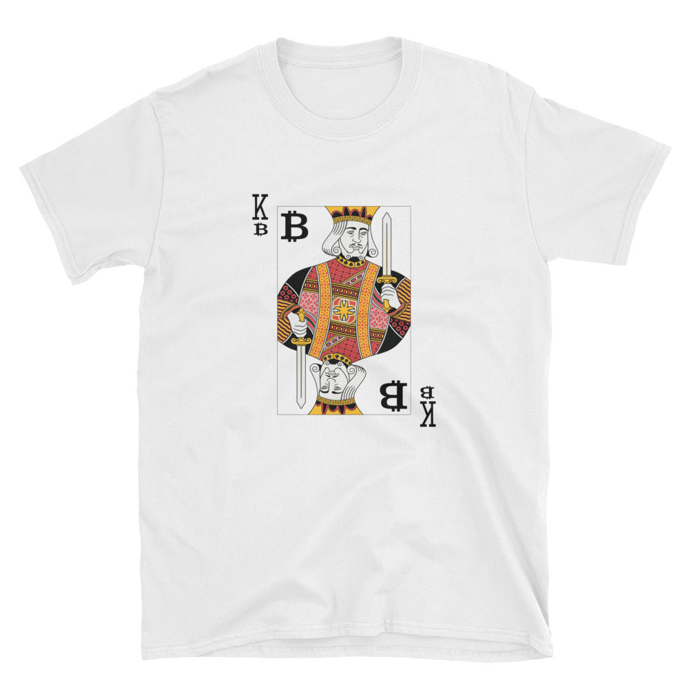 Bitcoin King Short-Sleeve Unisex T-Shirt | Cryptotshirt.com