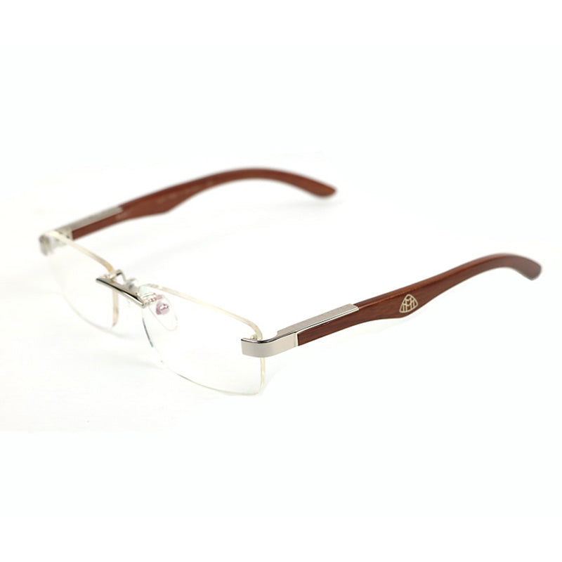 Luxury white buffalo horn optical glasses frame wooden eyeglass ...