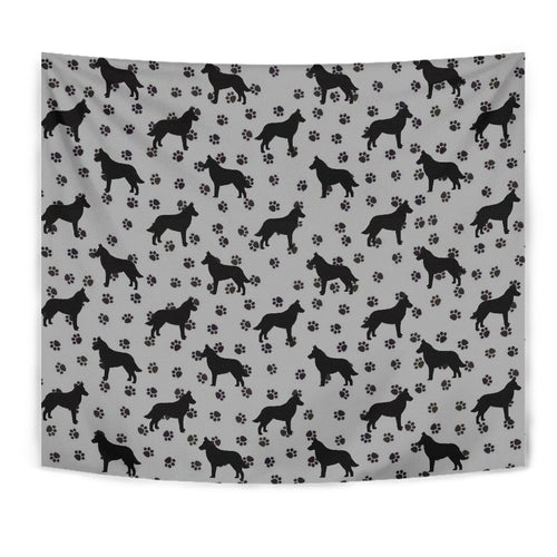 Malinois Dog Paws Pattern Print Tapestry-Free Shipping