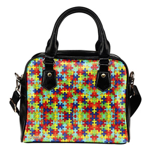 Autism Symbol Shoulder Handbag- Free Shipping