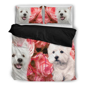 Cute West Highland White Terrier Print Bedding Set- Free Shipping