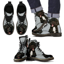 Portuguese Water Dog Print Boots For Men-Express Shipping