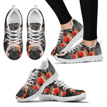 Pug With Happy Halloween Print Running Shoes For Kids-Free Shipping
